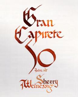 Caligrafia Gran Capirete. Conrad Rius